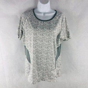 REI Gray White Athletic Wear Top L